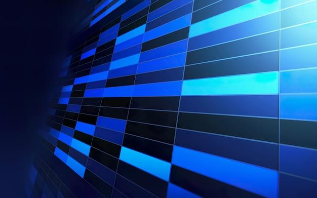 抽象的な幾何学的な長方形の青い背景の未来と技術の概念