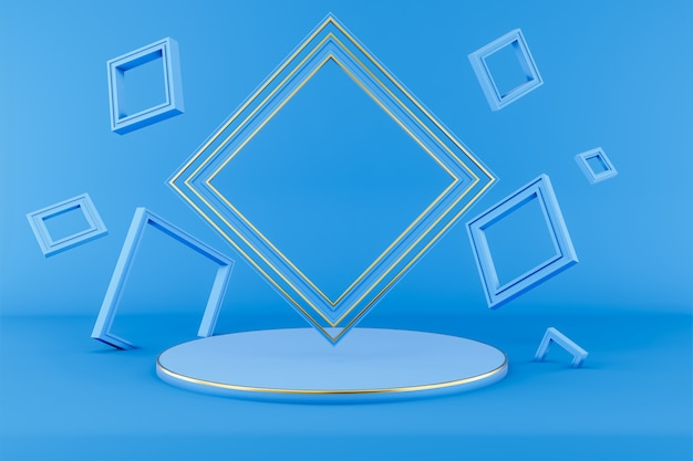 Abstract geometric shape background 3d illustration