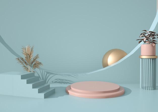 スタンド製品の抽象的な幾何学的形状の背景