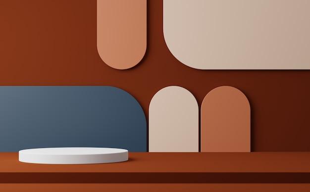表彰台と抽象的な幾何学的形状の背景