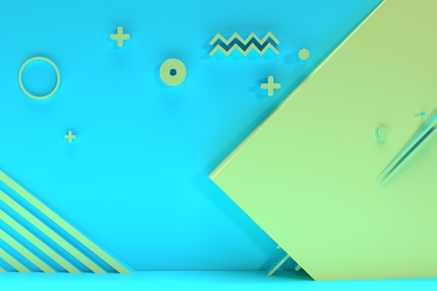 抽象的な幾何学的形状グループセット最小限の抽象的な背景3d幾何学的形態