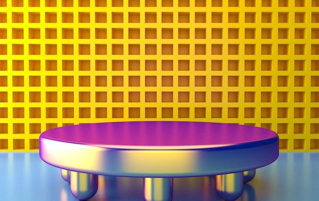 추상적 인 기하학적 모양 그룹 세트, 최소한의 추상적 인 배경, 3d 렌더링, 그라디언트 색상, 기하학적 형태의 장면