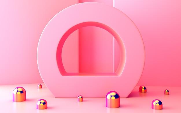 추상적 인 기하학적 모양 그룹 세트, 최소한의 추상적 인 배경, 3d 렌더링, 기하학적 형태의 장면