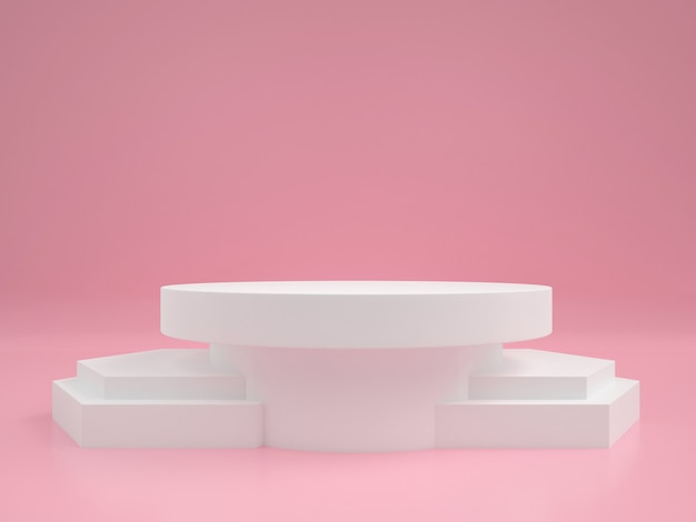 Abstract geometric shape pastel color  minimal modern style wall ,for booth podium stage display table.
