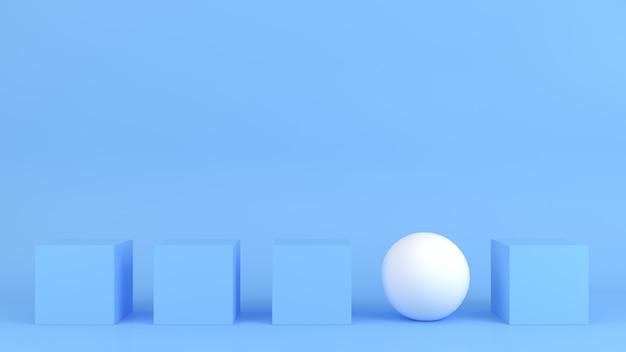 Абстрактная геометрическая форма пастельных тонов шаблон минимальная концепция современного стиля