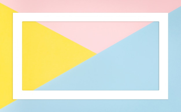 Abstract geometric shape pastel colors.