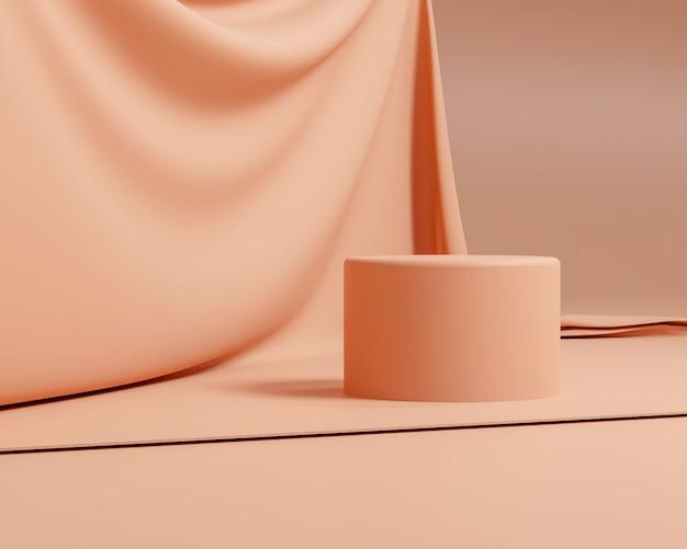 最小限のスタイルとパステルカラーの抽象的な幾何学的形状。化粧品や製品のプレゼンテーションに使用します。3dレンダリングとイラスト。