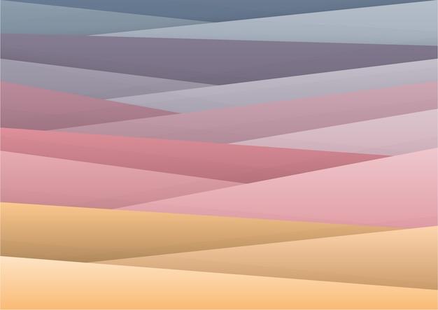 판타지 마운틴 뷰, 배경 다목적과 같은 추상적 인 기하학적 스타일.