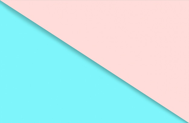 Abstract geometric water color paper background in soft pastel pink and blue trend colors with diago...