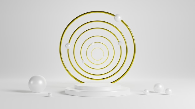 Abstract geometry. 3d rendering scene for product showing