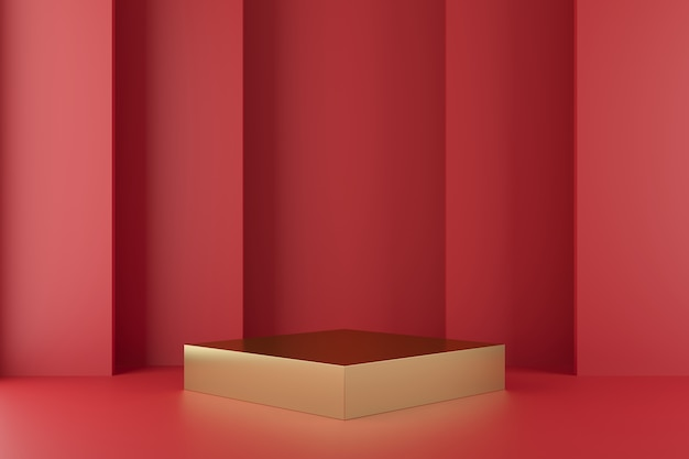 Abstract geometry shape background with podium minimalist
