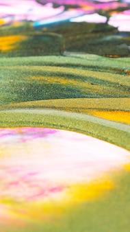 추상 반짝이 캔버스에 텍스처를 그립니다. 빛나는 페인트와 배경입니다. 다른 색 오일 페인트의 클로즈업 매크로