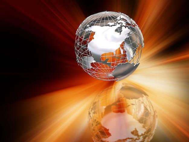 抽象的な地球儀