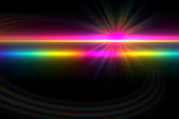 Abstract glowing digital lens flare background