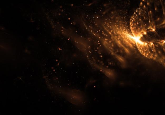抽象光る粒子の壁紙