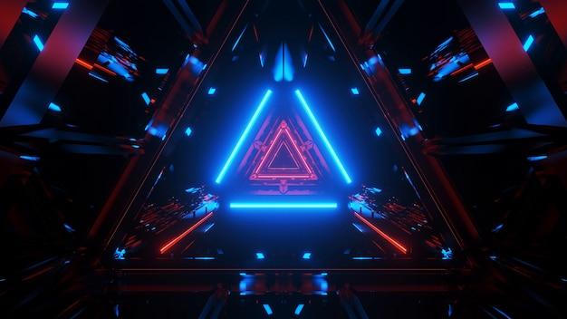 Абстрактный светящийся туннель