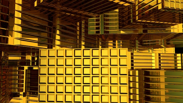 Abstract gold background 3d rendering