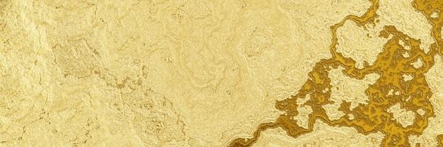 추상 금 배경 물결 모양의 황금 텍스처 프리미엄 사진