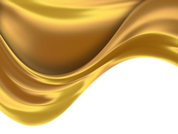 滑らかな線で抽象的な金の背景