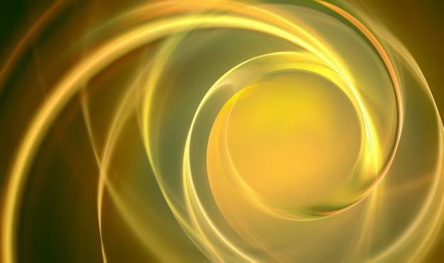 滑らかな波線と抽象的な金の背景