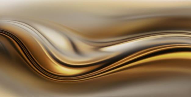 Абстрактный золотой фон с плавными волнистыми линиями