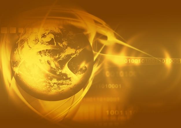 행성과 추상 금 배경