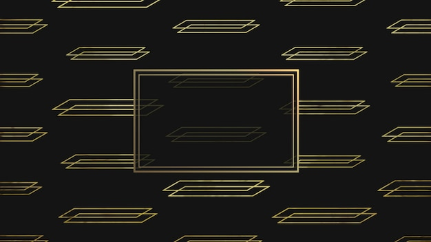 Abstract gold and luxury geometric shape with frame, retro background. elegant and luxury 3d illustration style for business and corporate template