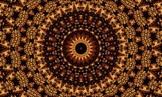 추상적인 황금 사탕 나선형 배경입니다. 배너, 표지, 전단지, 엽서, 포스터 등을 위한 현대적인 디자인. 라운드 그림입니다. 기하학적 원형 패턴입니다.