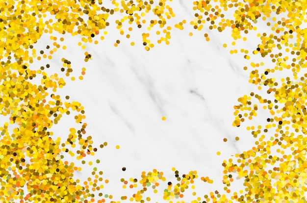 Abstract golden glitter frame with copy space