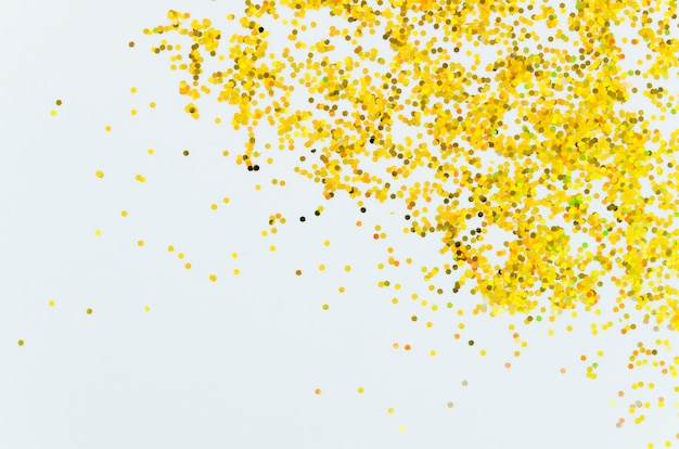 Abstract golden glitter with copy space background