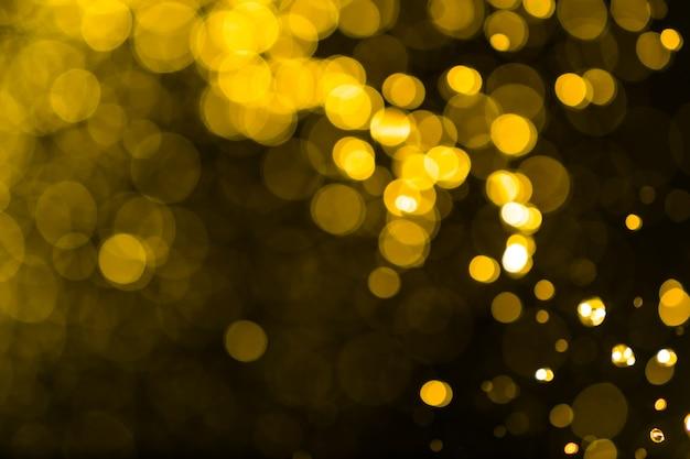 Abstract golden lights bokeh background