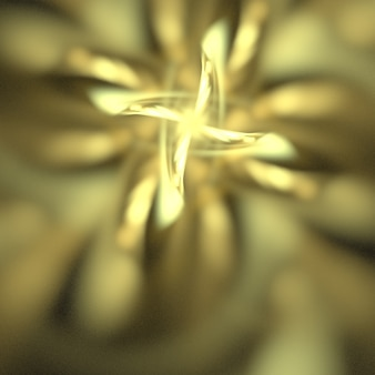 Abstract golden reflections background