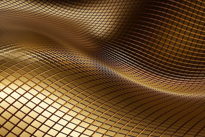 Abstract golden textured material