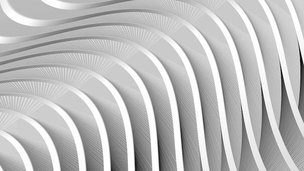 Abstract gray background with flowing wavy