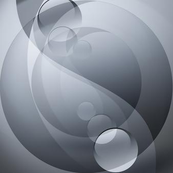陰陽の形で抽象的な灰色の背景