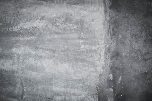 Abstract gray paint with brush and cement wall texture background