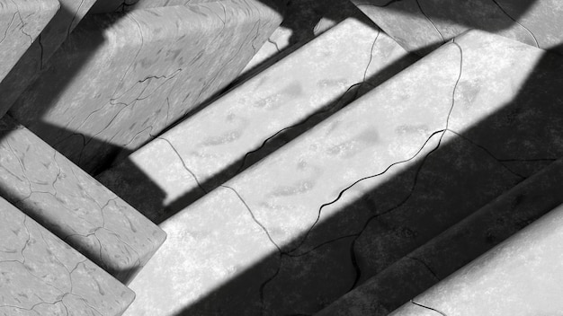 Abstract gray stone surfaces with cracks