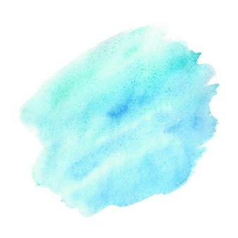 Абстрактная зеленая и синяя акварель на белом