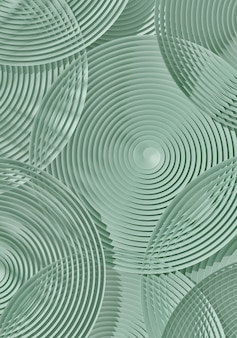 Abstract green circular subtle geometric pattern. 3d rendering illustration.