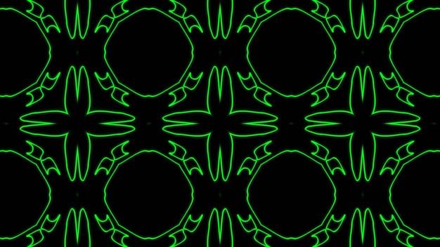 Abstract green geometric seamless pattern background premium photo