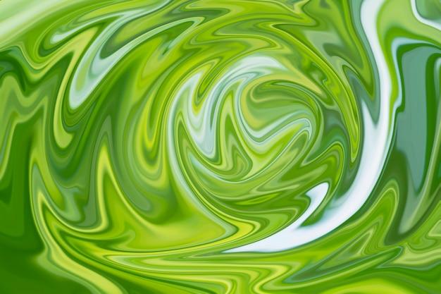 Абстрактный зеленый жидкий мраморный фон с зеленой текстурой для дизайна.