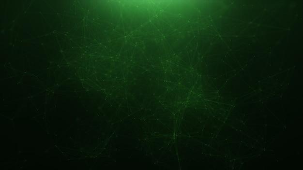 Abstract green plexus background