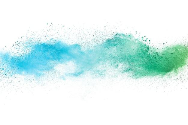 抽象的な緑の粉の爆発