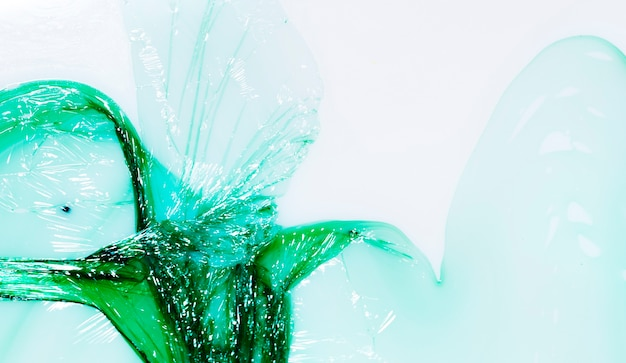 Abstract green splash from plastic bags