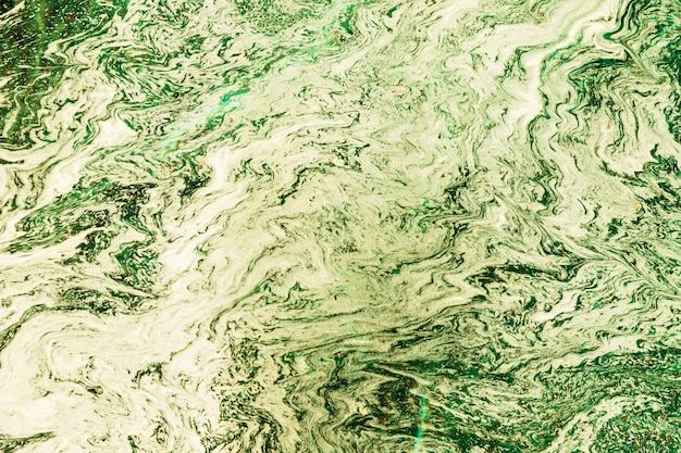 Abstract green and white composition