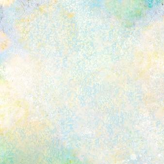 Fondo strutturato della pittura ad olio verde e gialla astratta