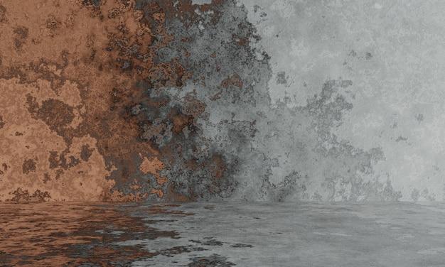 Абстрактная серая и коричневая стена