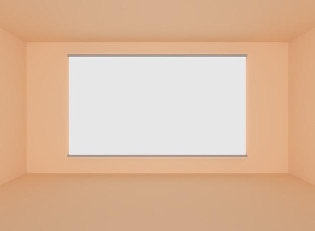 빈 벽과 방에 추상 회색 인테리어