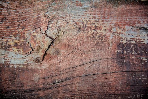 亀裂と擦り傷と古い木製の茶色の表面の抽象的なグランジ背景