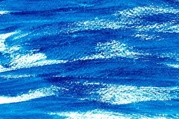 装飾のための抽象的なグランジブルー水彩手絵画の背景。
